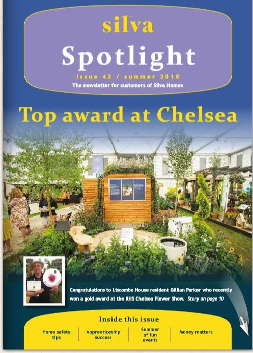 Summer Spotlight 2018 cover page showing a garden