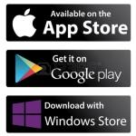 AllPay app available from App Store, Google Play or Windows Store