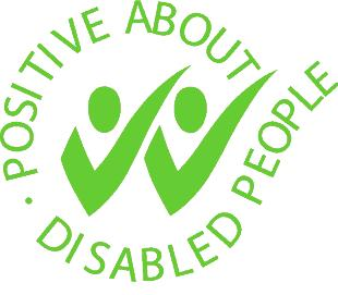 Two ticks positive about disabled people logo